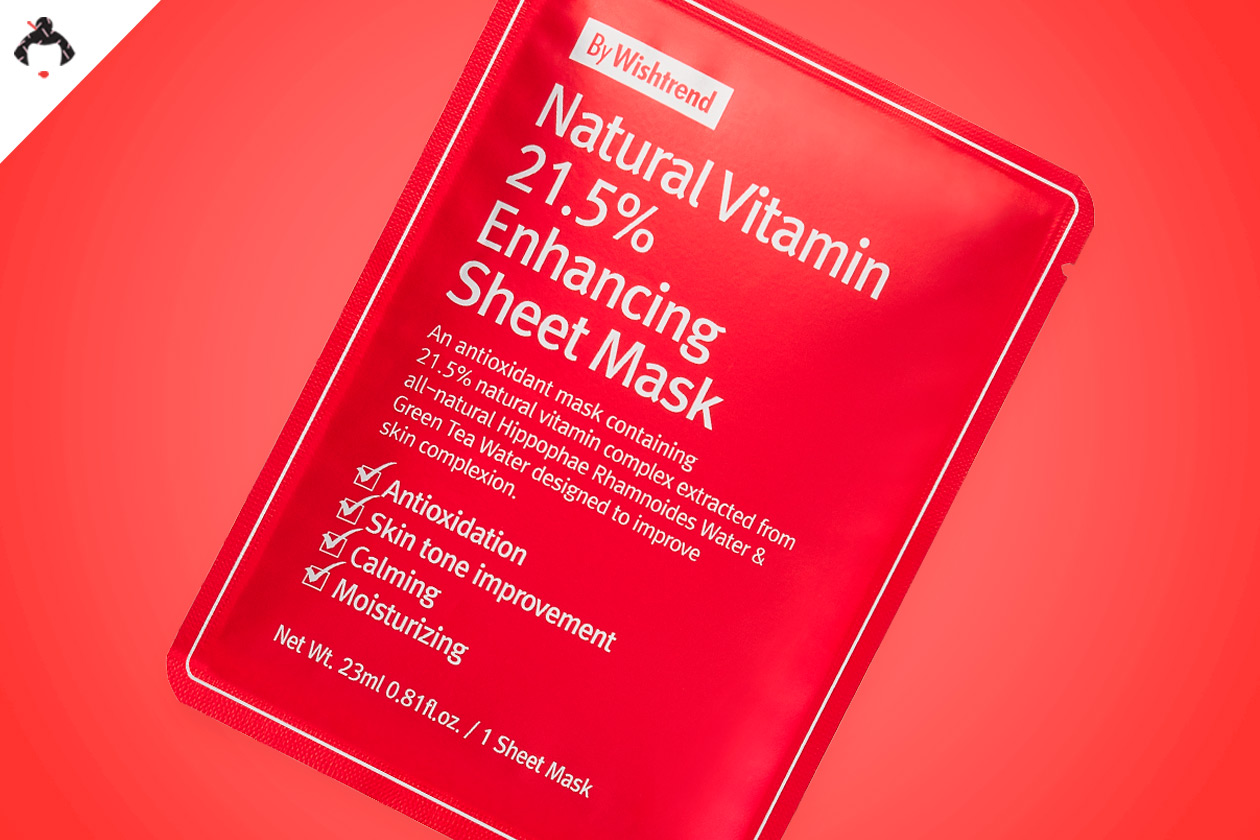 Тканевая маска с витаминами By Wishtrend Natural Vitamin C 21.5% Enhancing Sheet Mask