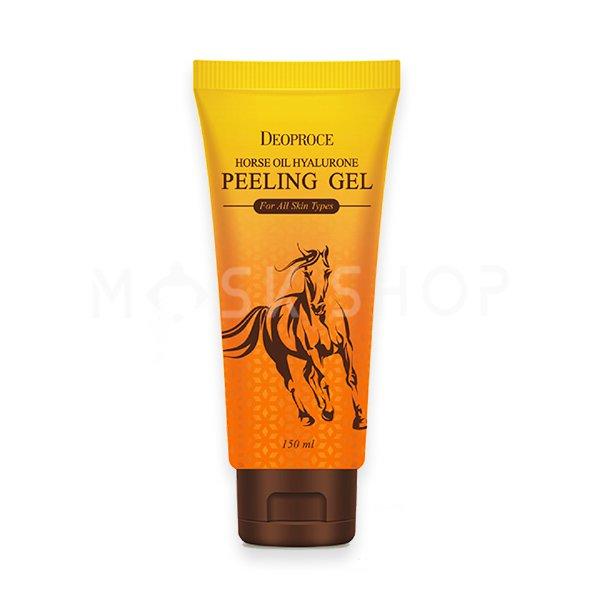 Гиалуроновый пилинг-гель с лошадиным жиром Deoproce Horse Oil Hyalurone Peeling Gel фото