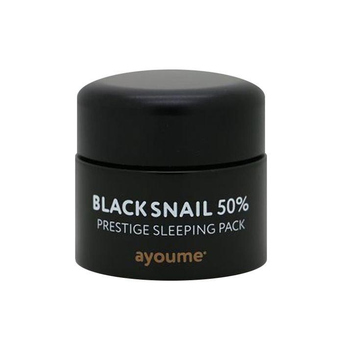 Ночная маска с муцином улитки Ayoume Black Snail Pestige Sleeping Pack фото