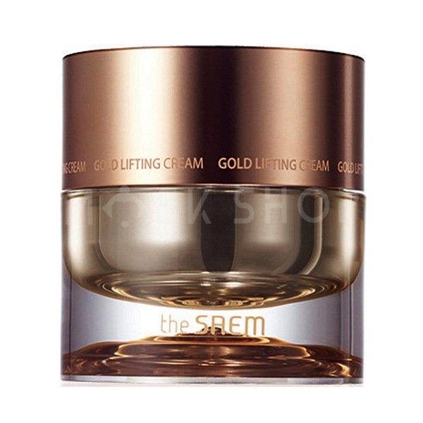 Антивозрастной крем для лица с лифтинг-эффектом The Saem Gold Lifting Cream фото