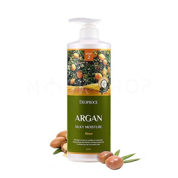 Бальзам для волос с аргановым маслом Deoproce Argan Silky Moisture Rinse фото
