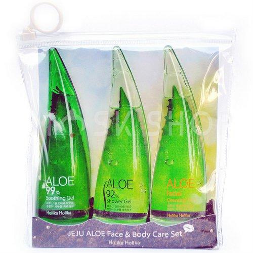 Набор для ухода за лицом и телом алоэ Holika Holika Jeju Aloe Face and Body Care Set фото