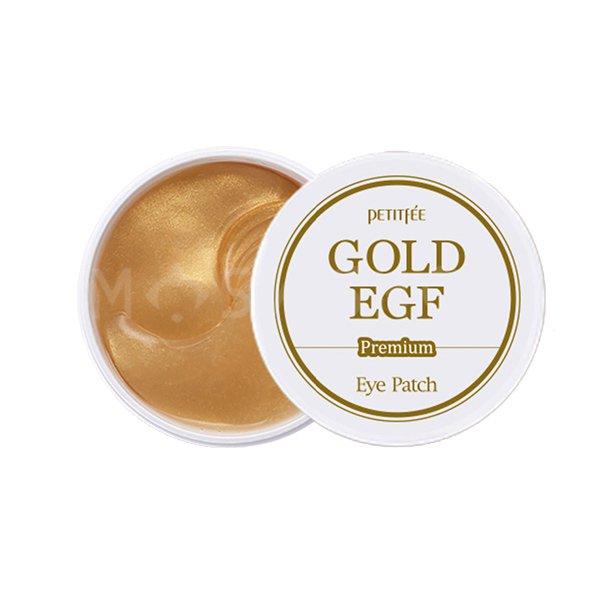 Гидрогелевые патчи для глаз c золотом и EGF Petitfee Premium Gold EGF Eye Patch  - Купить