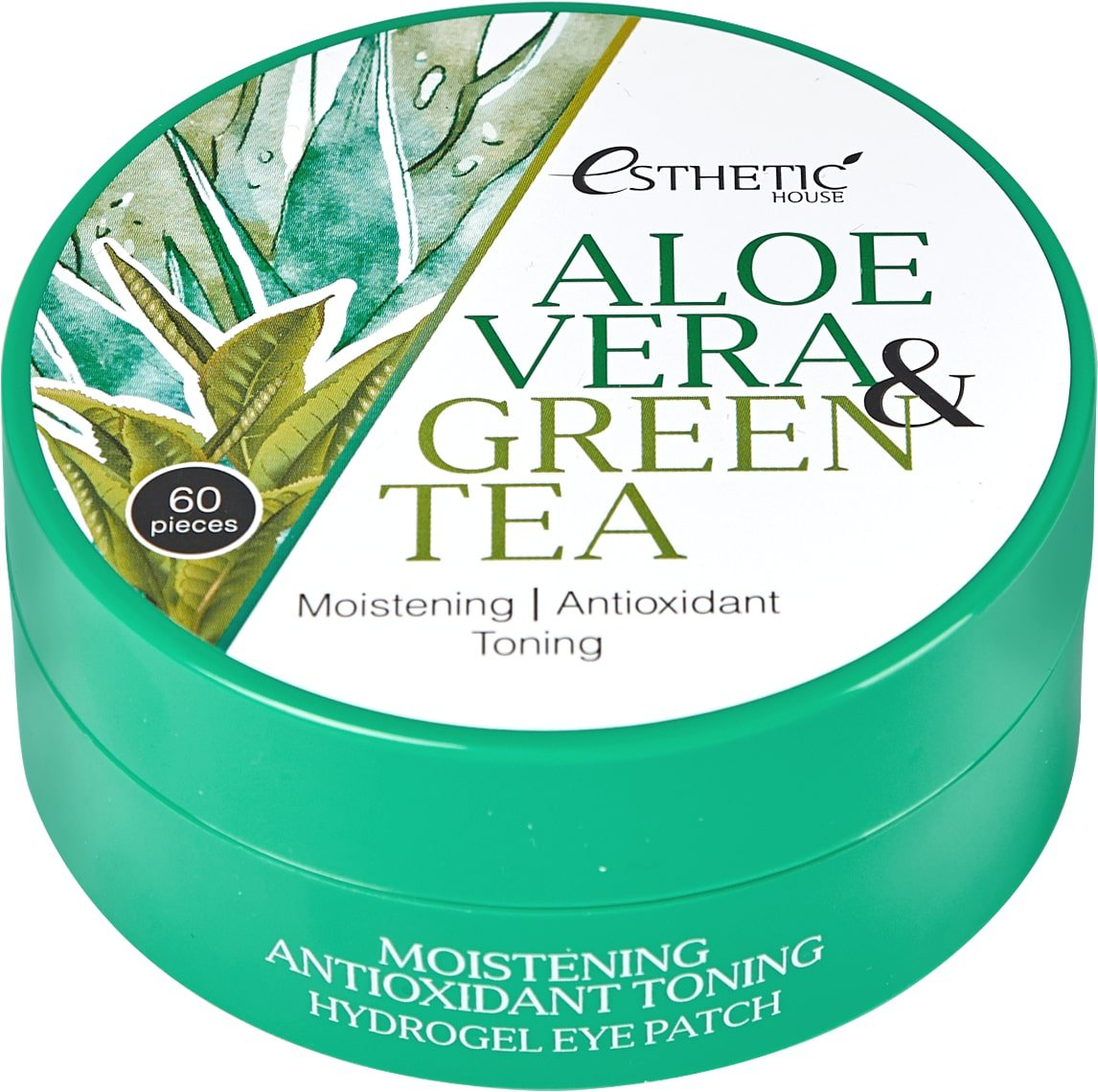 Патчи против отечности Esthetic House Aloe Vera Green Tea Hydrogel Eye Patch фото