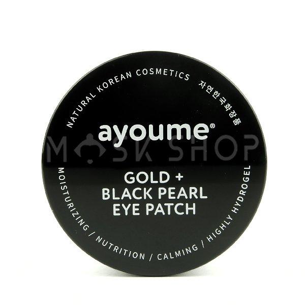 Гидрогелевые патчи с золотом и черным жемчугом Ayoume Gold Black Pearl Eye Patch фото