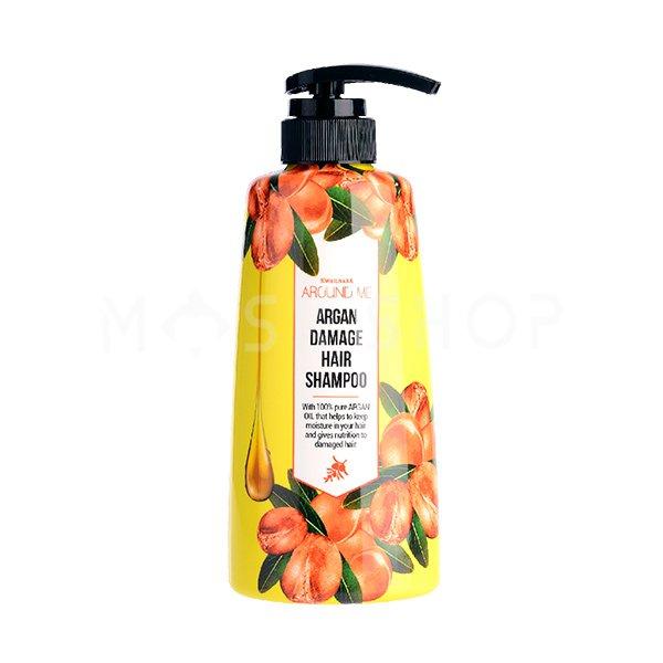 Увлажняющий шампунь для поврежденных волос с арганой Welcos Around Me Argan Hair Shampoo фото
