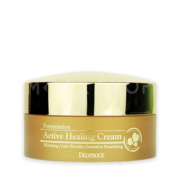 Питательный крем с ферментированными экстрактами Deoproce Fermentation Active Healing Cream фото