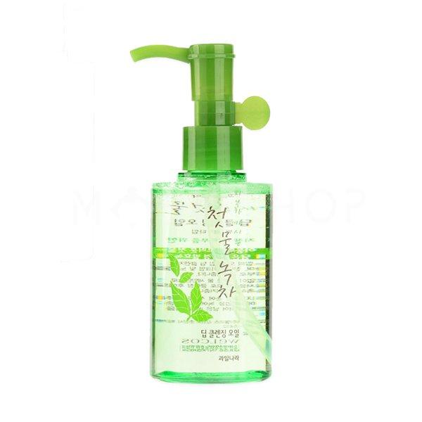 Гидрофильное масло с зеленым чаем Welcos Green Tea Deep Cleansing Oil фото