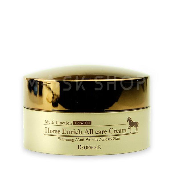Питательный крем для лица с лошадиным жиром Deoproce Horse Enrich All Care Cream фото
