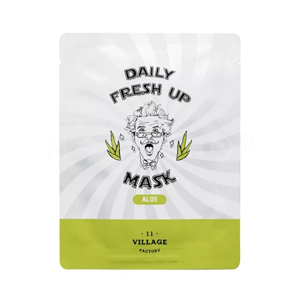 Тканевая маска с экстрактом алоэ VILLAGE 11 FACTORY Daily Fresh up Mask Aloe фото