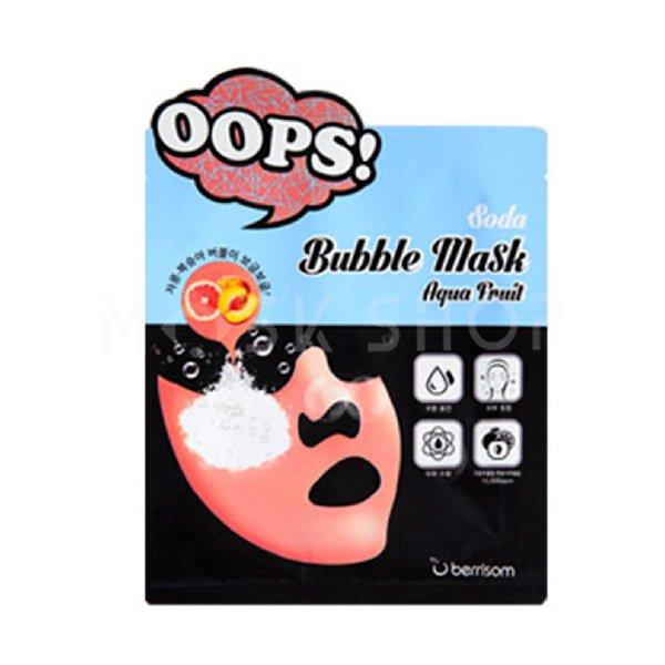 Купить Увлажняющая маска Berrisom Oops Soda Bubble Mask Aqua Fruit