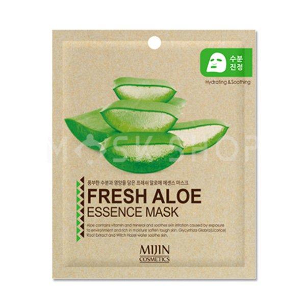 Тканевая маска с экстрактом алоэ Mijin Fresh Aloe Essence Mask фото