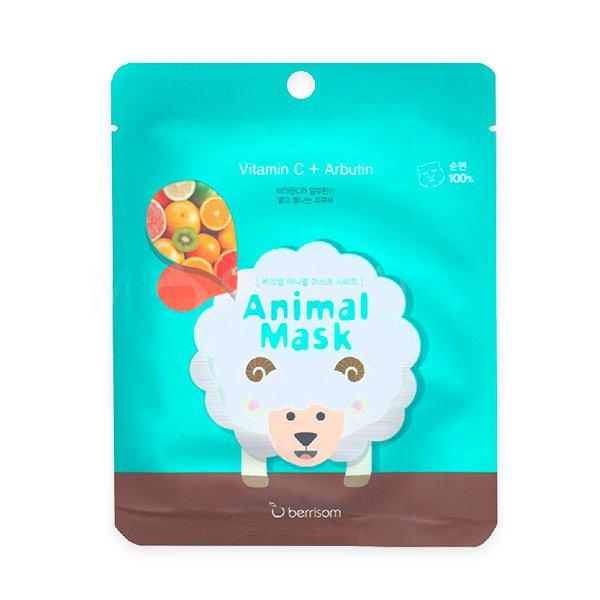 Тканевая маска с витамином C и арбутином Berrisom Animal Mask Series Sheep фото