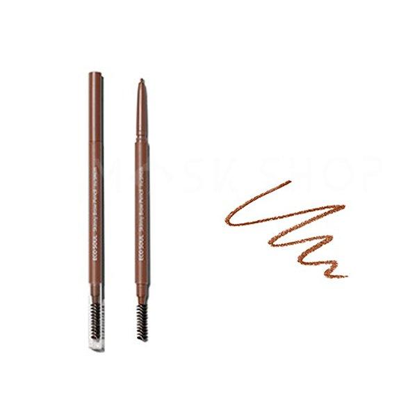 Купить Карандаш для бровей The Saem Eco Soul Skinny Brow Pencil 01 Natural Brown
