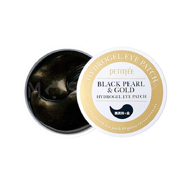 Гидрогелевые патчи с коллоидным золотом и пудрой черного жемчуга Petitfee Black Pearl & Gold Hydrogel Eye Patch фото