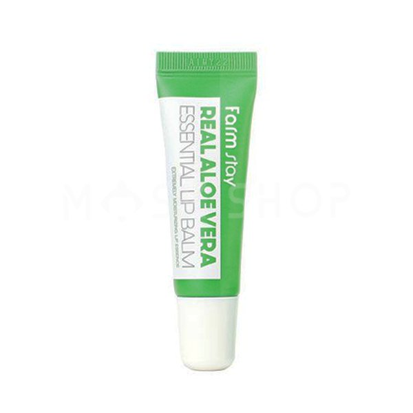 Бальзам для губ с алоэ FarmStay Real Aloe Vera Essential Lip Balm фото