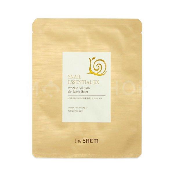 Купить Антивозрастная маска с муцином улитки The Saem Snail Essential EX Wrinkle Solution Gel Mask Sheet
