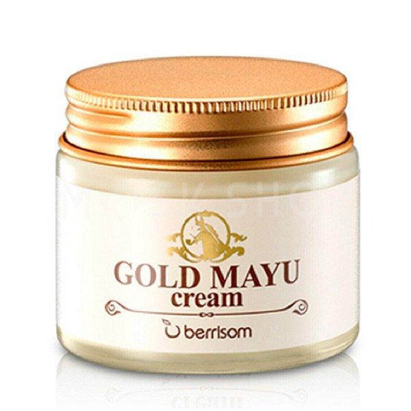 Крем для лица с лошадиным жиром Berrisom Gold Mayu Cream фото