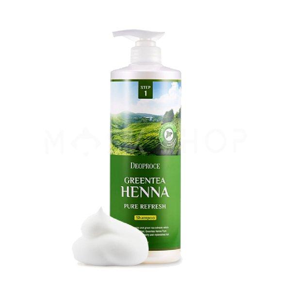 Купить со скидкой Шампунь для волос с экстрактом зеленого чая и хной Deoproce Green Tea Henna Pure Refresh Shampoo 100