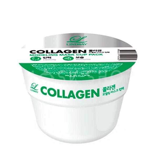 Альгинатная маска с коллагеном Lindsay Collagen Modeling Mask Cup Pack.
