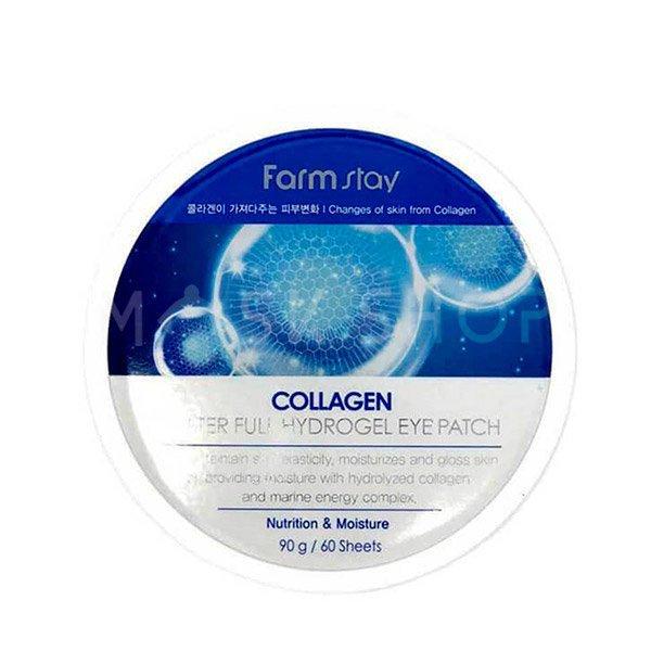 Гидрогелевые патчи с коллагеном FarmStay Collagen Water Full Hydrogel Eye Patch фото