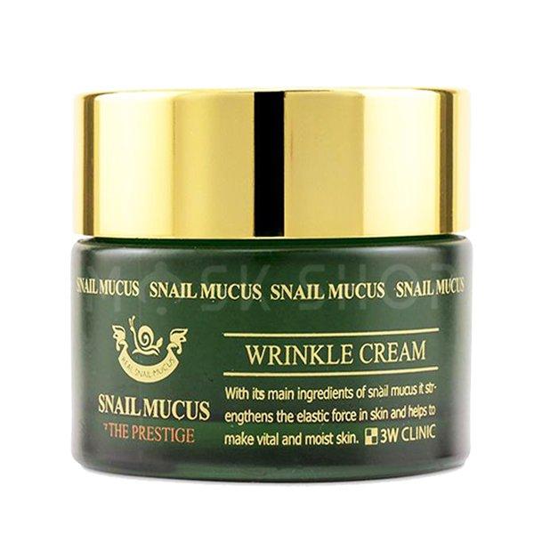 Купить Омолаживающий крем для лица с улиточным муцином 3W CLINIC Snail Mucus Wrinkle Cream