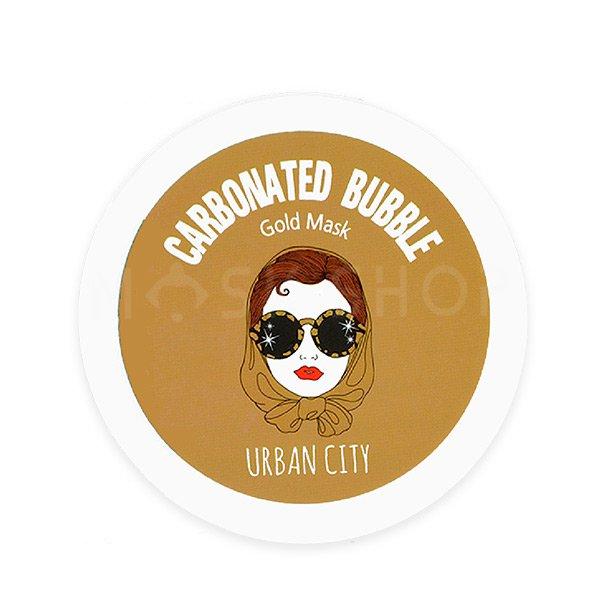 Очищающая пузырьковая маска с золотом Urban Dollkiss Urban City Carbonated Bubble Gold Mask фото
