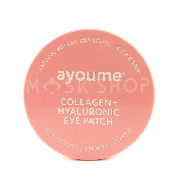 Гидрогелевые патчи с коллагеном и гиалуроновой кислотой Ayoume Collagen Hyaluronic Eye Patch фото