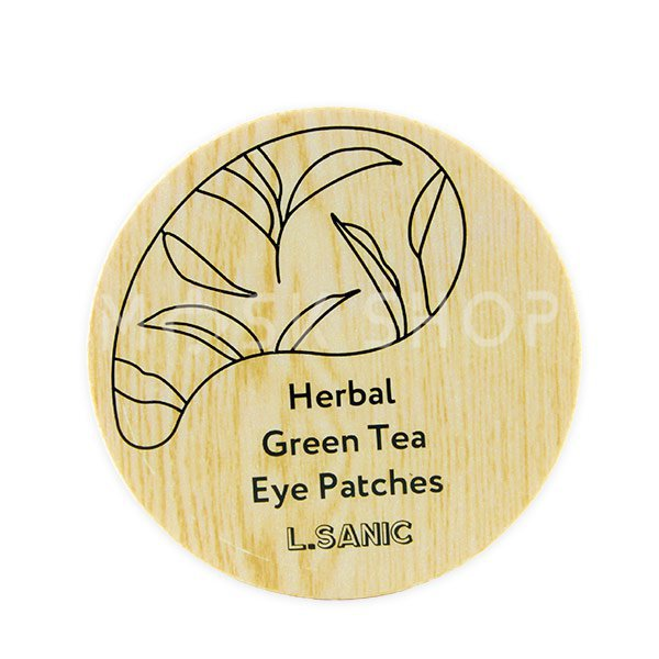 Гидрогелевые патчи с экстрактом зеленого чая L.Sanic Herbal Green Tea Hydrogel Eye Patches фото