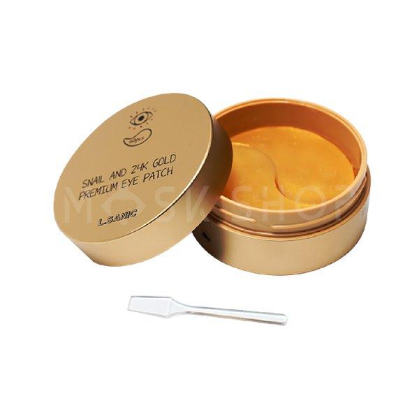 Купить Гидрогелевые патчи с муцином улитки и золотом L.Sanic Snail And 24K Gold Premium Eye Patch