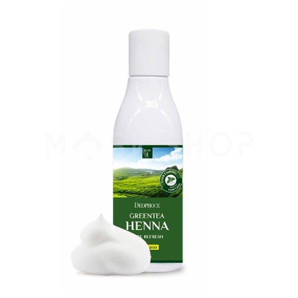 Купить Шампунь для волос с экстрактом зеленого чая и хной Deoproce Green Tea Henna Pure Refresh Shampoo 200 мл