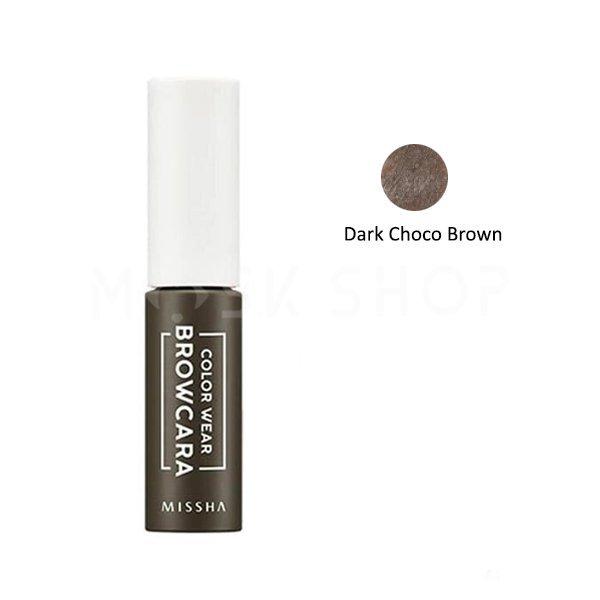 Тушь для бровей Missha Color Wear Browcara Dark Choco Brown фото