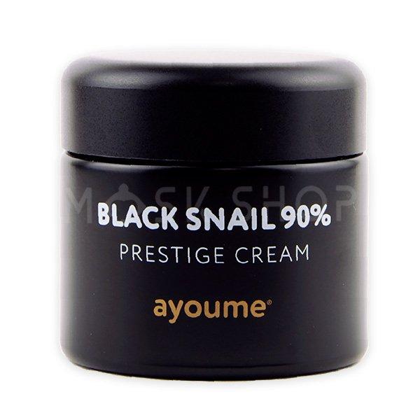 Омолаживающий крем с муцином улитки Ayoume Black Snail Prestige Cream фото