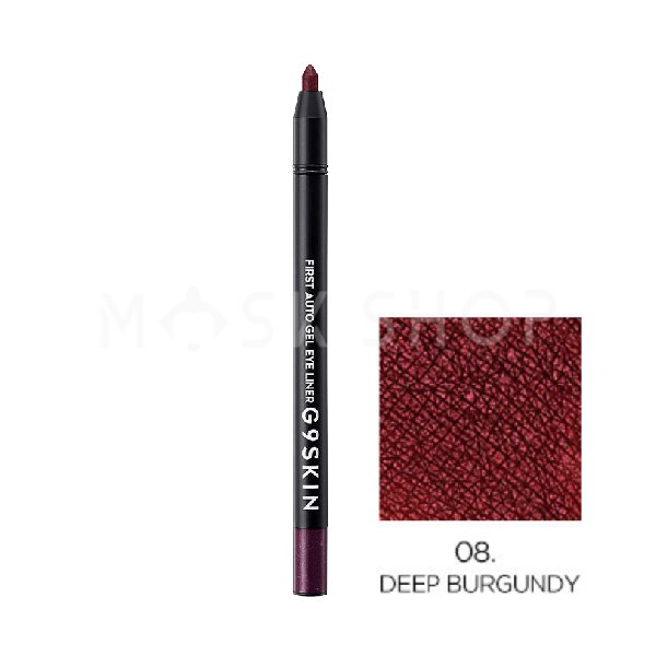 Автоматический гелевый карандаш для глаз G9SKIN First Auto Gel Eyeliner 08 Deep Burgundy фото