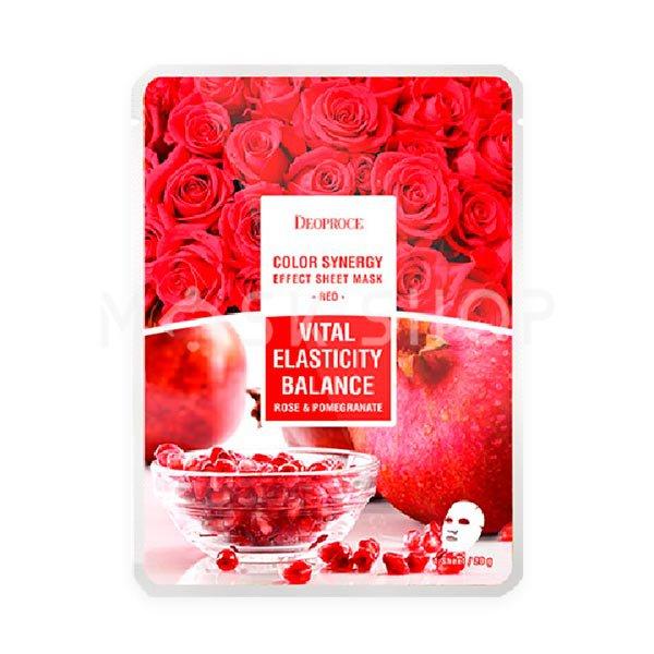 Тканевая маска с экстрактом граната и розы Deoproce Vital Elasticity Balance Rose & Pomegranate Mask фото
