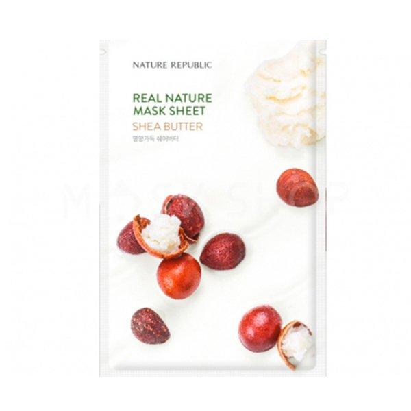 Купить Гидрогелевая маска с маслом ши Nature Republic Real Nature Shea Butter Hydrogel Mask