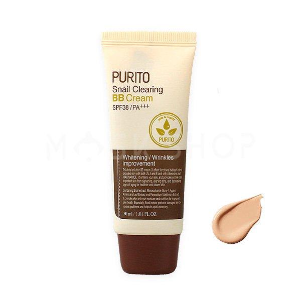 ББ крем c муцином улитки PURITO Snail Clearing BB Cream #27 Sand Beige фото