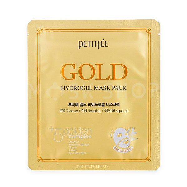 Гидрогелевая маска с золотом Petitfee Gold Hydrogel Mask Pack фото