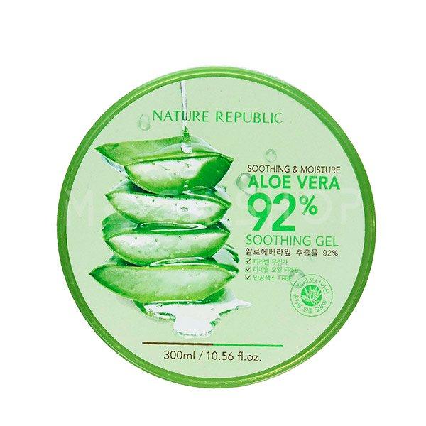 Увлажняющий гель с алоэ вера Nature Republic Aloe Vera 92% Soothing Gel фото