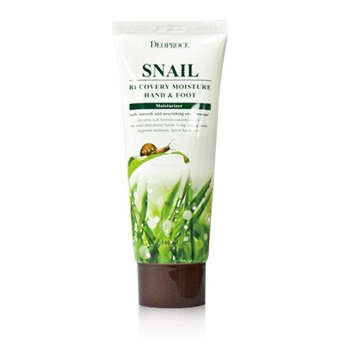 Купить Восстанавливающий улиточный крем для рук и ног Deoproce Snail Recovery Moisture Hand Foot Cream