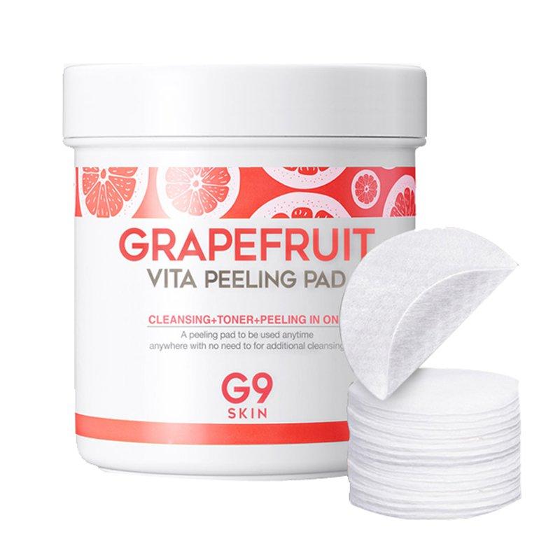 Очищающие диски для пилинга G9SKIN Grapefruit Vita Peeling Pad фото