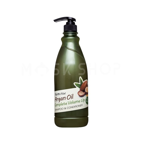 Шампунь-кондиционер с aргановым маслом FarmStay Argan Oil Complete Volume Up Shampoo & Conditioner фото