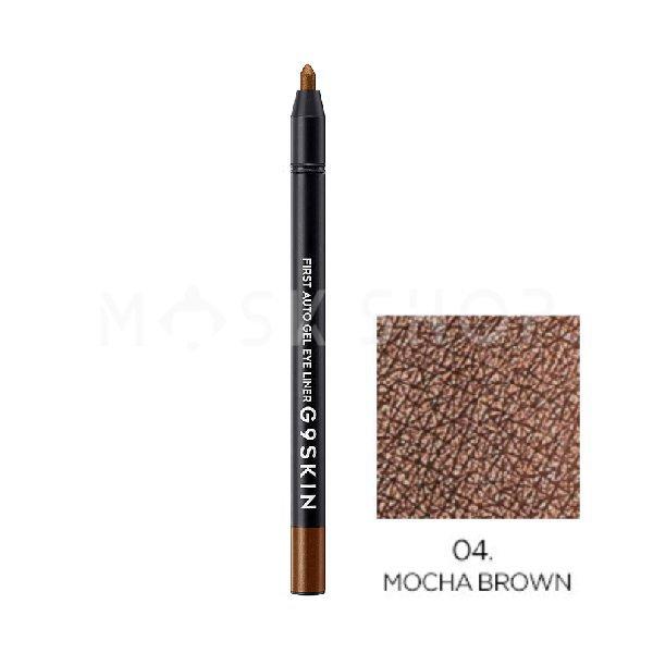 Автоматический гелевый карандаш для глаз G9SKIN First Auto Gel Eyeliner 04 Mocha Brown фото