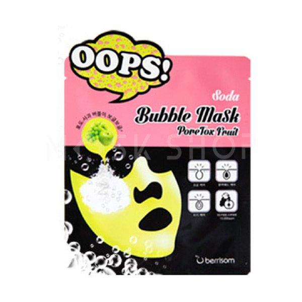 Маска для кожи с расширенными порами Berrisom Oops Soda Bubble Mask PoreTox Fruit фото
