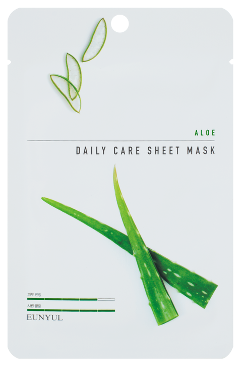 Тканевая маска с алоэ Eunyul Aloe Daily Care Sheet Mask фото