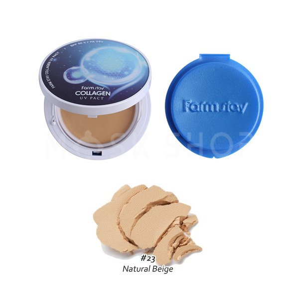 Пудра с коллагеном Farm Stay Collagen 23 Natural Beige