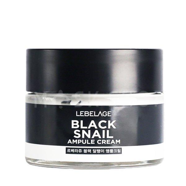 Купить Крем с муцином чёрной улитки Lebelage Ampule Cream Black Snail