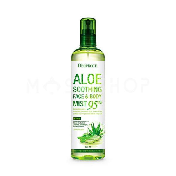 Купить Мист для лица и тела с экстрактом алоэ Deoproce Aloe Soothing Face & Body Mist 95%