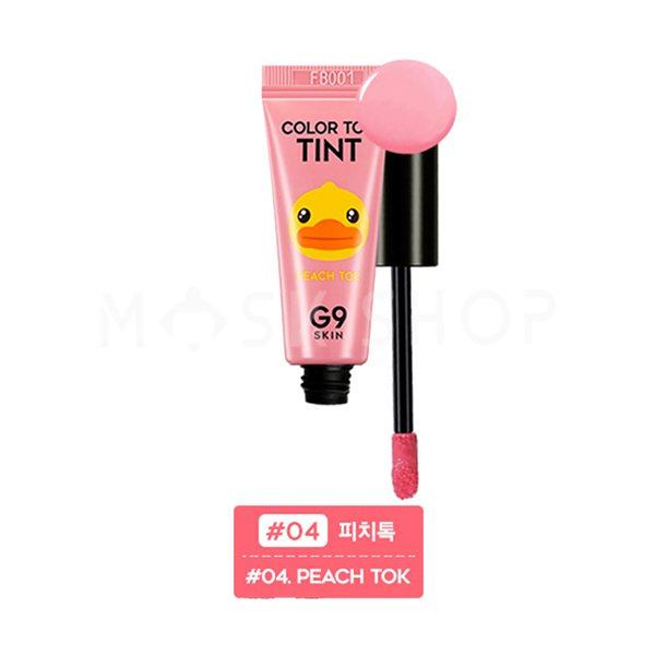 Тинт для губ персик G9Skin Color Tint Peach Tok 04 фото