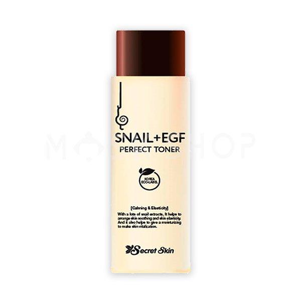 Омолаживающий тонер с экстрактом улитки Secret Skin Snail+EGF Perfect Toner фото